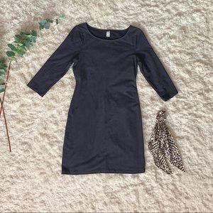Solid Black Old Navy Form Fit Dress